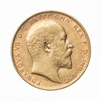 Full Gold Sovereign Edward VII