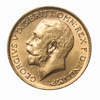 Full Gold Sovereign George V